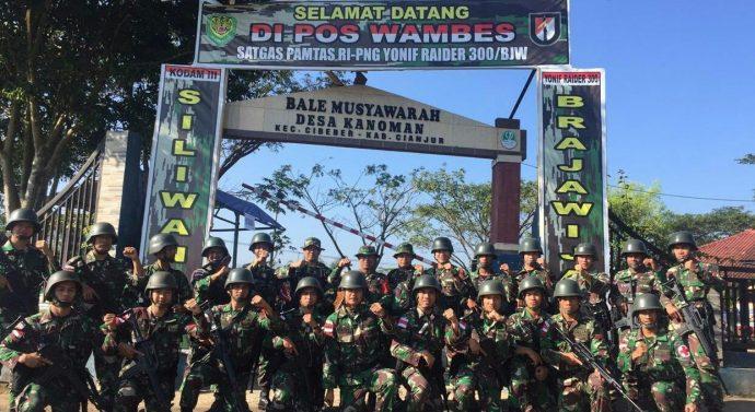 MASYARAKAT DESA KANOMAN MERASA TERBANTU DENGAN  KEHADIRAN YONIF RAIDER 300/SLW-BJW TNI-AD