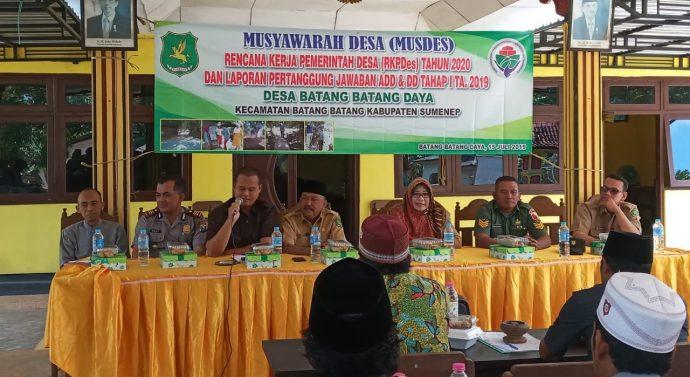 Babinsa 0827/14 Turut Hadir Dalam Acara Agenda Rutin  Murenbangdes Batang Batang Daya