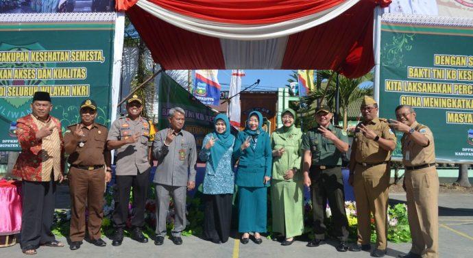 Kodim 0611/Garut melaksanakan Bakti TNI KB Kes Tepadu Th 2019 di Makodim 0611/Garut Jl. Veteran No 01 Kec. Garutkota Kab. Garut