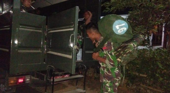 KODIM 0828 SAMPANG, LAKUKAN PERGESERAN PASUKAN TNI DALAM RANGKA PENUTUPAN TMMD