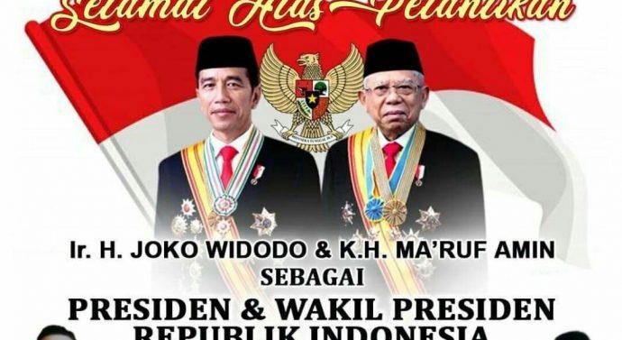 LSM BARAK INDONESIA  CABANG BEKASI MENDUKUNG PELANTIKAN PRESIDEN DAN WAKIL PRESIDEN