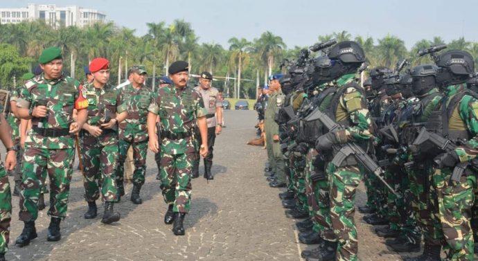 GELAR PASUKAN PENGAMANAN PELANTIKAN PRESIDEN DIPIMPIN LANGSUNG OLEH PANGLIMA TNI