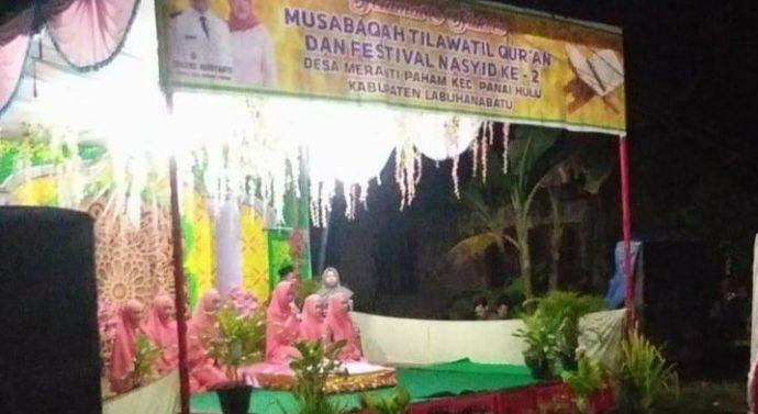 KEPALA DESA MERANTI PAHAM MENGADAKAN ACARA MUSBAQAH TILAWTIL QUR'AN
