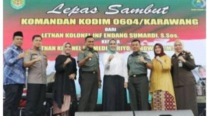 LEPAS SAMBUT DANDIM 0604 WAJAH BARU KABUPATEN KARAWANG
