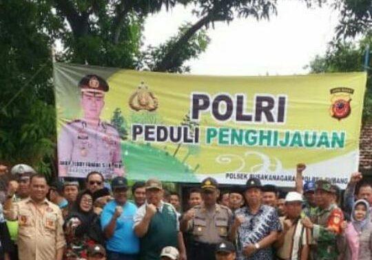 POLRI PEDULI PENGHIJAUAN DALAM PENANAMAN SEJUTA POHON