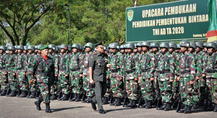 SEBANYAK 633 ORANG SISWA MENGIKUTI PENDIDIKAN BINTARA  TNI AD TA. 2020