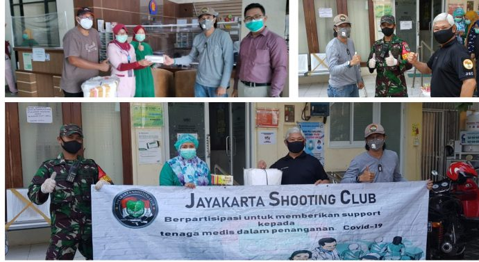 JAYAKARTA SHOOTING CLUB SUPPORT PARAMEDIS MEMERANGI COVID-19