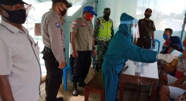 TNI/POLRI BERSINERGI SIAGA DIPOS COVID DAN PAM OPS KRAKATAU.