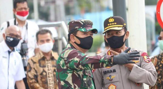 TNI POLRI AKAN   KERAHKAN PASUKANNYA DI 4 PROVINSI AKAN DISIPLINKAN MASYARAKAT
