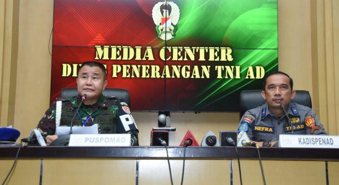 Kadispenad Buka Press Conference Terkait Meninggalnya Anggota TNI AD