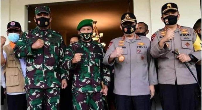 Pangdam IX/Udayana Bersama Forkopimda NTB Sambut Kedatangan Lima Pimpinan Institusi Negara