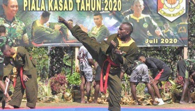 Prada Rajami Uryo Putra Papua Raih Prestasi di Kejuaraan Beladiri Militer Tersebar Piala Kasad