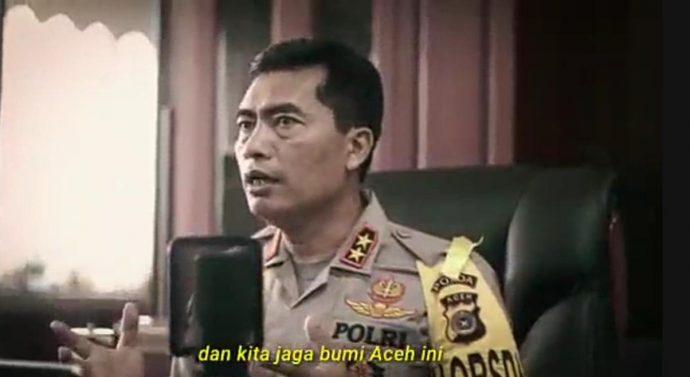 BEREDAR VIDEO KAPOLDA ACEH IMBAU MASYARAKAT TERKAIT COVID-19 MELALUI RADIO JADUL