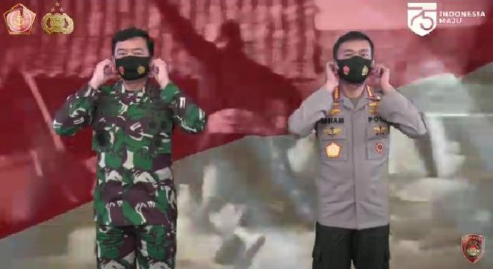 PANGLIMA TNI DAN KAPOLRI SAMPAIKAN UCAPAN HARI KEMERDEKAAN KE-75 REPUBLIK INDONESIA