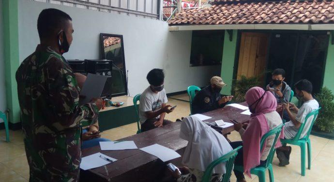 Siswa Siswi : Terimakasih Pak Tentara Kami Senang Belajar Daring Dikoramil 1105/Cibatu Dengan Wifi Gratis