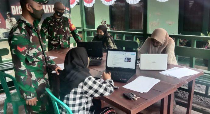 Wifi Gratis Untuk Anak-anak Sekolah di  Koramil 1122/Pakenjeng