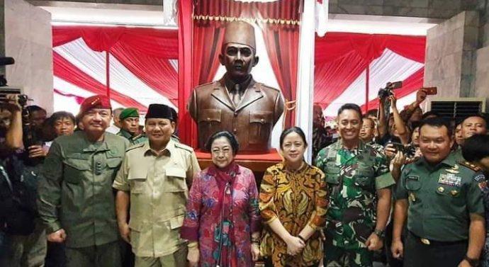 Ungakap Mantan Presiden kelima Ibu Mega Suekarno Putri Hari ini, Patung Bung Karno di Sekolah Tinggi Intelijen Negara (STIN)
