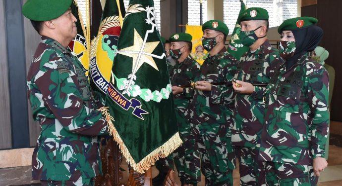 Kasad Pimpin Sertijab 5 Jabatan Strategis dan Terima Laporan Kenaikan Pangkat Perwira Tinggi TNI AD