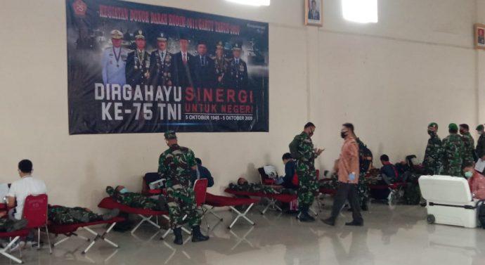Memperingati Hut TNI ke -75 Kodim 0611 Garut Laksanakan Bhakti Sosial Donor Darah