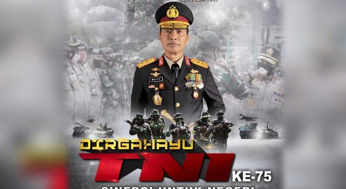 KAPOLDA ACEH  SAMPAIKAN UCAPAN DIRGAHAYU TNI KE 75