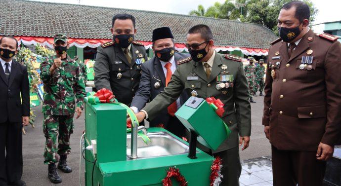 Bertepatan HUT TNI, Kodim 0611 Garut Melakukan Louncing Mesin Cuci Automatic Touchless NN-0611 Garut