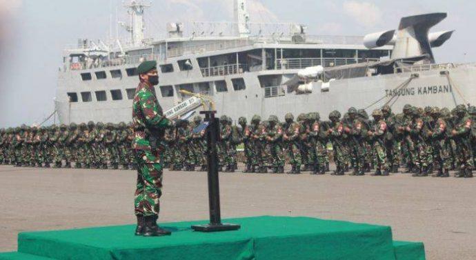 3.123 PRAJURIT TNI AD DIKERAHKAN KE SUMATERA HADAPI ANCAMAN ASING