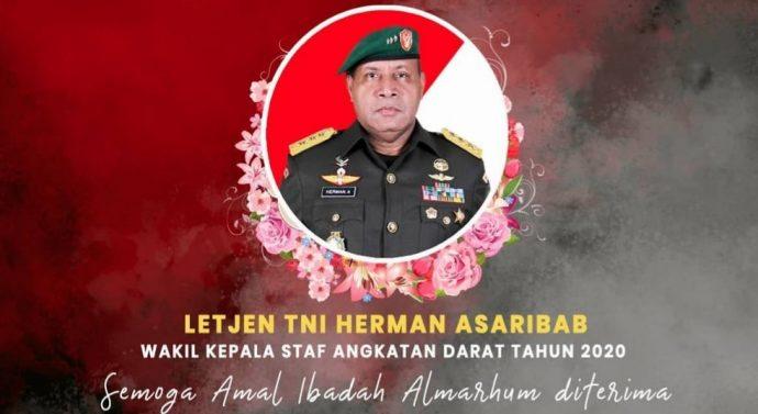 Wakasad Letnan Jenderal Herman Asaribab, meninggal dunia