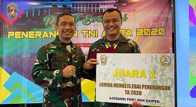 RAPAT EVALUASI BIDANG PENERANGAN TNI AD 2020 DIPIMPIN LANGSUNG KADISPENAD