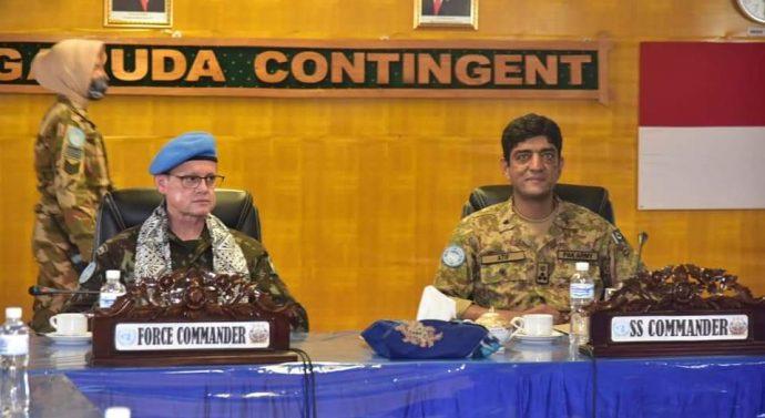 Kunjungan Kerja Operasional Force Commander ke Satgas Indo RDB XXXIX-B MONUSCO