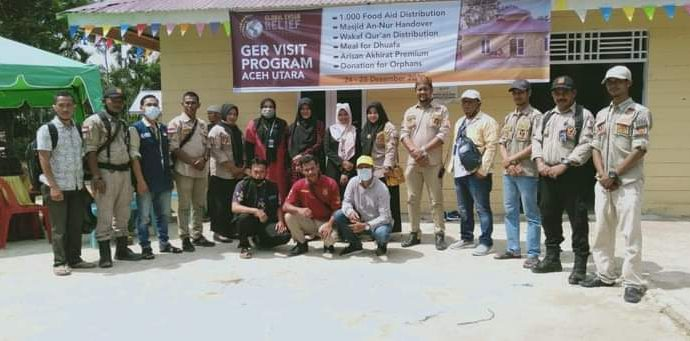 GER Visit Program: 1.000 Paket Sembako di Distribusikan di Aceh Utara