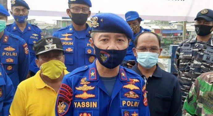 """Hari ke 3 Tim SAR dan Penyelam Ditpolair Korpolairud Baharkam Polri Fokus Cari Jenazah Korban Pesawat Sriwijaya Air SJ-182."""""""
