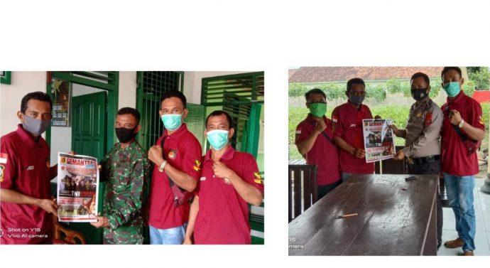 ORMAS GEMANTARA EKSEKUTIF CABANG LAMPUNG TENGAH BERSILATURAHMI KE INSTITUSI TNI POLRI