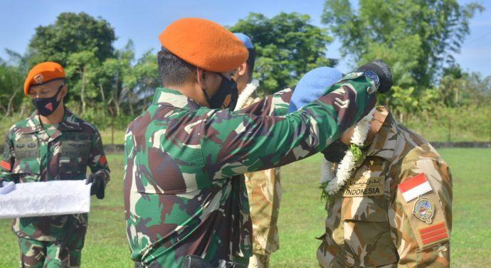 DANKIPAN B YONKO 469 PASKHAS SAMBUT PERSONEL SATGAS YONMEK TNI KONGA XXIII-N UNIVIL LEBANON TA 2020