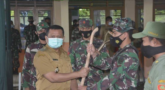 Danrem 062/Tarumanagara menghadiri pembukaan TMMD ke-110 di Wilayah Kodim 0610/Sumedang Desa Kertamukti  Tanjungmedar