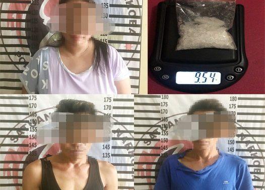 POLISI TANGKAP TIGA BANDAR NARKKOBA 9,54 GRAM